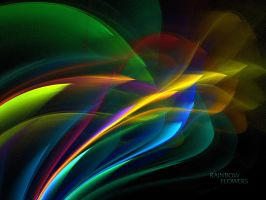 Rainbow Flowers - WP - No.1 by denise-g