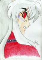 Inuyasha - Glare of the Demon by lady-dragonstrike