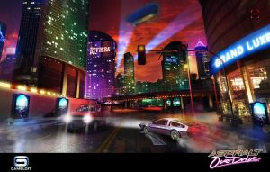 Asphalt Overdrive : Financial District Night by Asahisuperdry