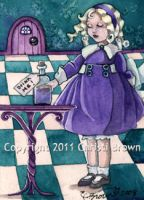 Alice in Wonderland ACEO by candcfantasyart