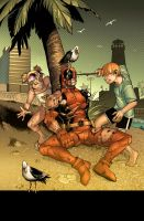 FUN beach is FUN. DEADPOOl. by MarteGracia