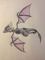 cynder midflight by thesubtle