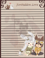 Bunny x Cat Stationary by MoonlightTheWolf