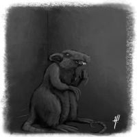 Cornered Rat by HarshRealities