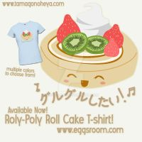 Roly-Poly Roll Cake T-Shirt by egg-chan