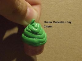 Green Cupcake Charm by chkimbrough
