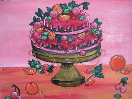 Fruit cake painting by AilwynRaydom