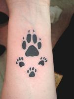 Paw Print Tattoo by LeelaB
