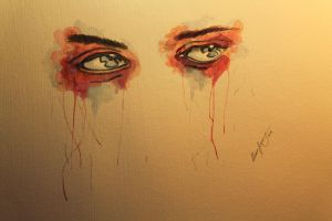 eye painting no.1 - watercolor by LucaHennig