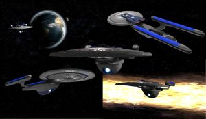 USS Excelsior Collage by Hatvok