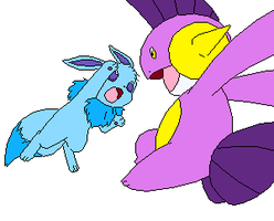PMD OC: Muddy VS. Frost by Cocoafox895
