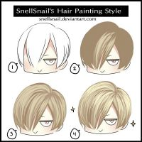 SnellSnail's Hair Painting Style by SnellSnail