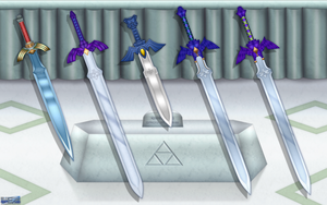 Evolution of the Master Sword Wallpaper by BLUEamnesiac