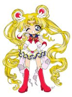 Super Sailor Moon: Colored by GangstaCakes