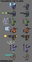 THE GEMS OF CASTELARIA HEROES SPRITE ART (Clean) by Nidaram