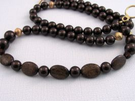 Bronzite and Brown Pearl by lauriescustomcreate