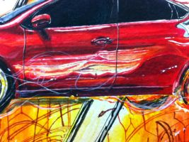 Darting through reality - Detail of car 3 by apra-art