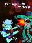 Xyz vs the hammer by lunitaproductions