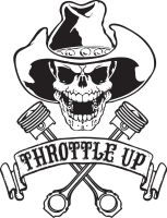 Throttle Up Skull by Michael-Burleigh