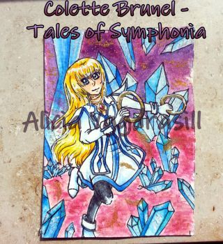 A whisper of an angel (ACEO) by AliciaYggdrasill