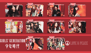 Girls' Generation ~Love and Peace Folder Pack~ by FolderOvert