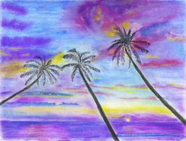 Colorful Palms by stargateatl