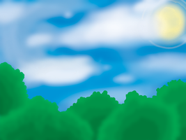 Background Practice - Sky by plumthedragon