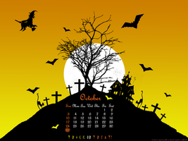 Halloween Wall2 - Calendar ver by bystrawbrry