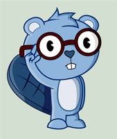 The blue beaver by Wopter