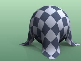 Cloth Falling on Sphere Sim. by marslyr