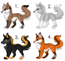 Free Fox Adoptables (CLOSED) by erixadopts