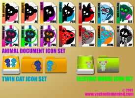 Vector Demented Icon Set 3 by meesh23