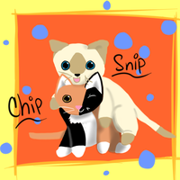 Chip and Snip Siblings by catz537
