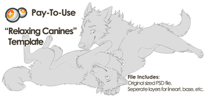 Relaxing Canines Template by The-Nutkase