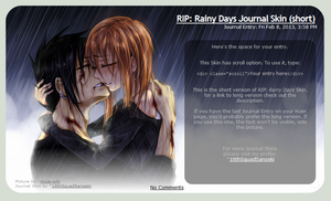 [FREE TO USE] RIP: Rainy Days Journal Skin (short) by 16thSquadSanseki