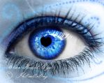 Blue Heart Eye by LT-Arts