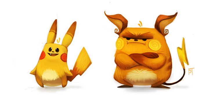 DAY 446. Kanto 025 - 026 by Cryptid-Creations