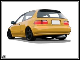 -Honda Civic Hatchback- by zeba5