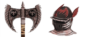 Helmet and Axe Concept by RoboEight