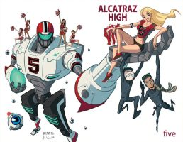 Alcatraz High #5 Cover A by BobbyRubio