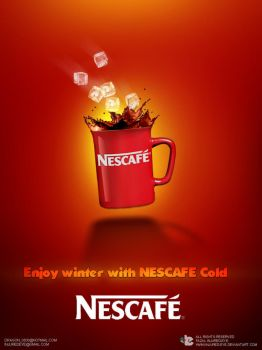 Nescafe cold print page by injured-eye