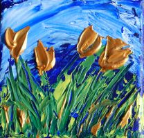Bronze Tulips by davepuls