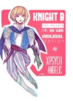 ADOPTABLE: KNIGHT B (closed) by Sychandelic
