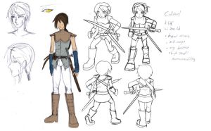 Cadfael concept sketches by Mole-Chan