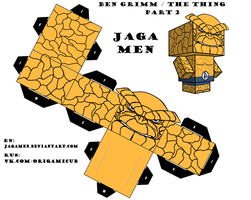 Ben Grimm|The Thing Cubeecraft Part 2 by JagaMen