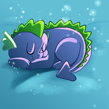 Sleeping Spike by Butterscotch25