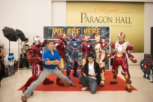 Ironman 3 cosplay group by VH by Villageshope