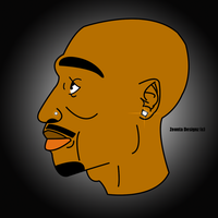 2pac Cartoon Graphic Design by ZeontaSmith