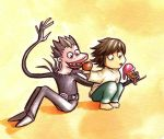 L and Ryuk by Gigei