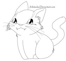 free cat line art by JinKitsuka